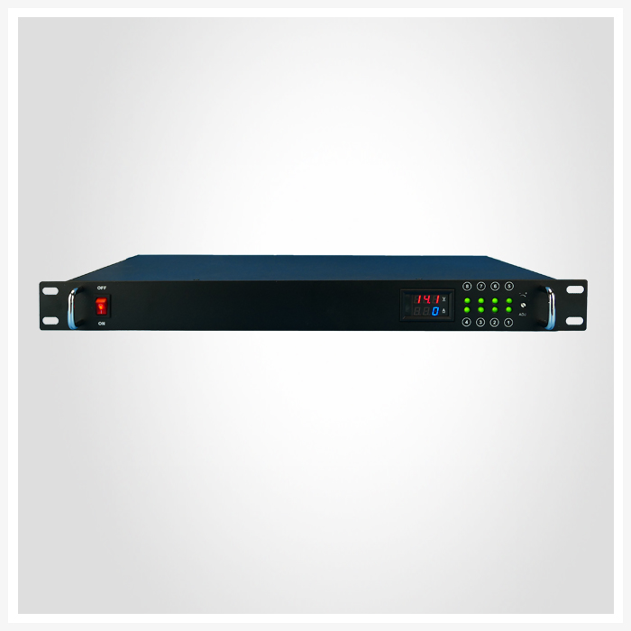 DC 12V 10A 8Ways Rack Mount With Meter